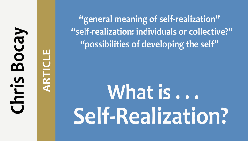 what is self-realization?