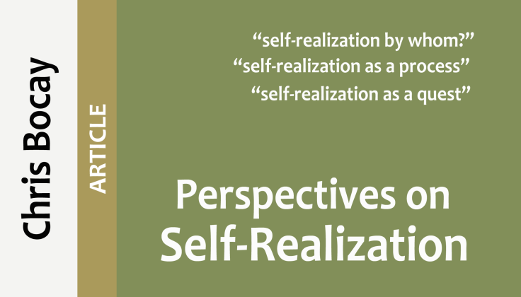 perspectives on self-realization