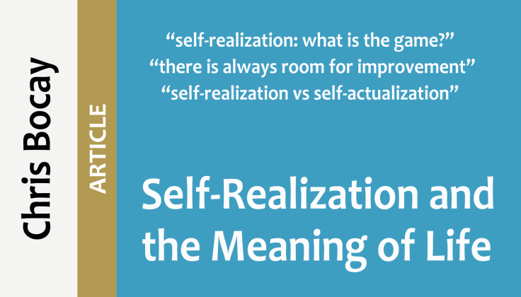 self-realization and the meaning of life