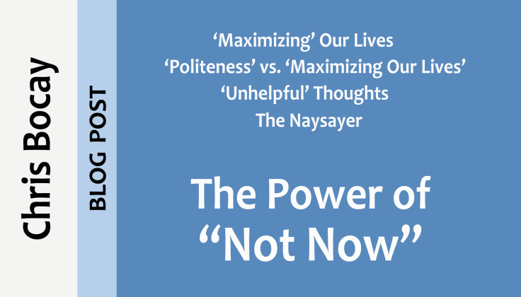the power of not now (blog post)